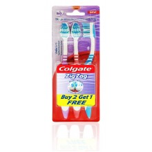 Colgate ZigZag Tooth Brush, Medium - Buy 2 get 1 Free