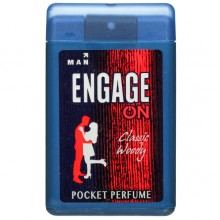 Engage Man Pocket Perfume, Classic Woody, 18ml