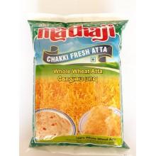 Sri Mathaji Chakki Fresh Whole Wheat Atta, 1kg