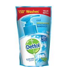 Dettol Handwash Refill Pouch 185ml, Cool - Buy 2 Get 1 Free